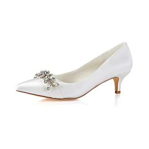 63c636f995 Bueno wreapped Best 4U® Zapatos De Boda De Las Mujeres Satén Primavera  Verano 5CM Tacones