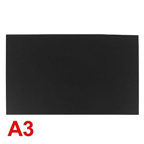 Amazon.com: Uxcell 3 mm Negro Plástico acrílico plexiglás ...