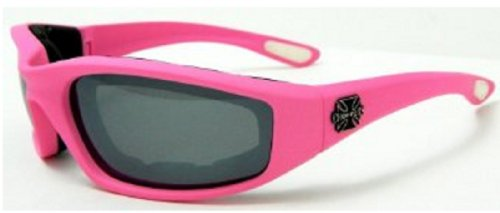 Pink Padded Choppers Biker Motorcycle Sunglasses Goggles - Wholesale Biker Sunglasses
