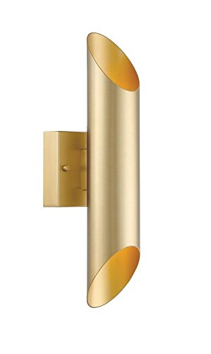 Designers Fountain LED6092-LXG Skyler - 21W 1 LED Outdoor Wall Sconce, Luxor Gold Finish