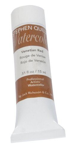 Stephen Quiller Watercolor - Jack Richeson Stephen Quiller 15-Ml Watercolor Tube, Venetian Red
