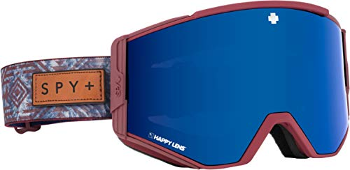 Spy Optic Ace Snow Goggles | Quick Draw Lens System | Ski, Snowboard or Snowmobile Goggle | (Native Nature RED-Happy Rose w/Dark Blue Spectra+Happy Light Gray Green w/Lucid RED)