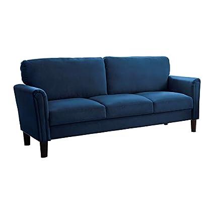 Amazon.com: Abbyson Living Riley Navy Blue Fabric Sofa ...