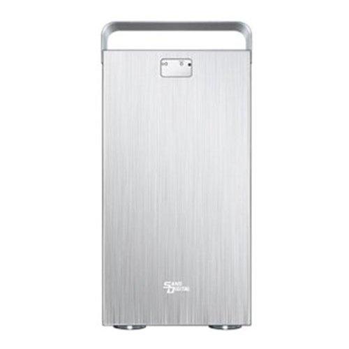 Sans Digital MobileSTOR MS8X6+ - 8 Bay SATA/SAS to 6G SAS Expander JBOD Enclosure - Silver (Connect Scsi Drive)