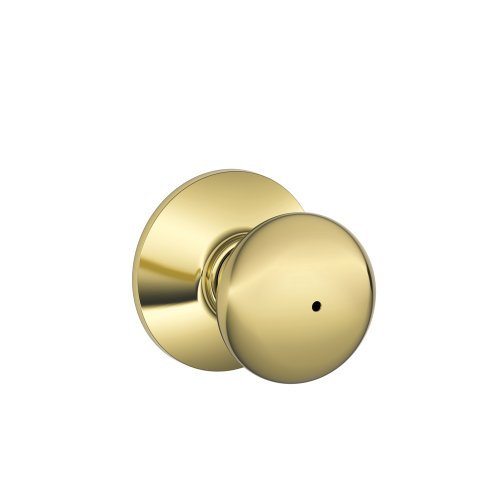 Schlage F40-PLY Plymouth Privacy Lock Door Knob Set, Polished Brass x Satin Nickel