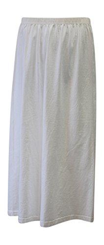 Liz and Jane Women's Cotton Long Skirt Plus Size (1X, White)