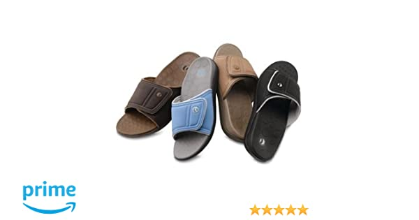 4085c2023adc Amazon.com  Sammons Preston Orthaheel Unisex Kiwi Adjustable Slide Sandals  (081521111 Camel Khaki Men s Size 8 Women s Size 9)  Health   Personal Care