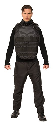 [Rubie's Costume Co. Men's Marvel Universe Grand Heritage Punisher, Black, Standard] (Punisher Cosplay Costume)