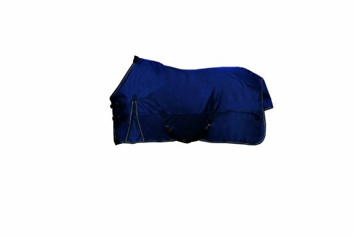Kensington All Around HD 1200D Euro Cut 180gm Medium Weight Turnout Blanket, 87, Navy (Turnout Medium Weight)