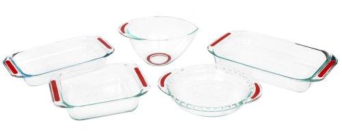 UPC 071160044036, Pyrex Accents Bakeware 5-Piece Baking Dish Set