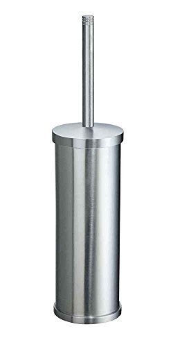 Studio Toilet Brush Holder in Brushed Chrome Finish by Smedbo, Inc