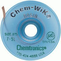 Chemtronics Chem-Wik #7 Green Rosin Flux Core Desoldering Wick or Braid - 5 ft Length - 0.075 in Diameter - Rosin Flux Core - 7-5L [PRICE is per EACH]