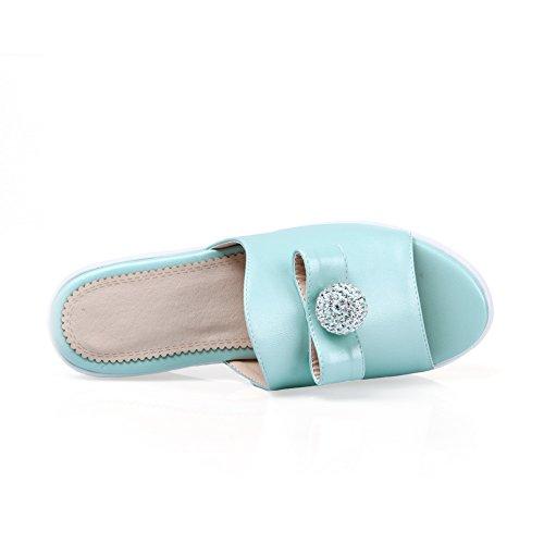 AdeeSu - Zapatillas de estar por casa para mujer Azul