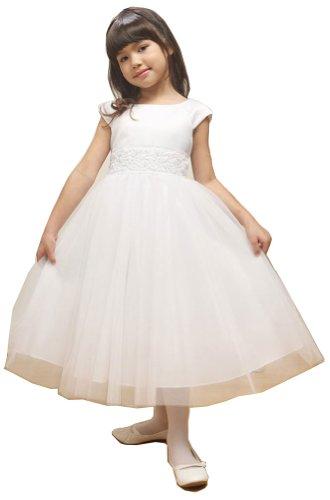 KID Collection Girls White Flower Girl Communion Dress Size 2