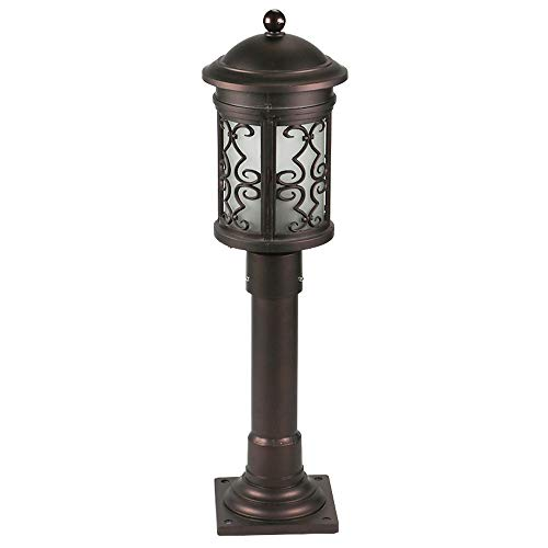 Pcqre American Minimalist Round Landscape Light E27 Retro Courtyard Decorative Path Lamp Ip45 Outdoor Garden Pillar…