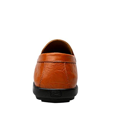 Sneaker Da Uomo Casual Classico In Pelle Traspirante Slip On Athletic Casual Fannulloni Casual Marrone Rossiccio