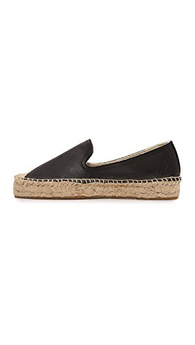 Leather Platform Black Slipper Smoking Soludos Women's qURnTFOx
