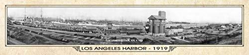 - Los Angeles Harbor 1919 Vintage Panorama Metal Print, Los Angeles Panorama, Historic Port of Los Angeles Sign, Vintage Los Angeles Image