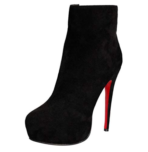 Shiney De Noir Modèle Black Chaussures Plateforme Bal Habillées Femmes Bottines HqHwBagr