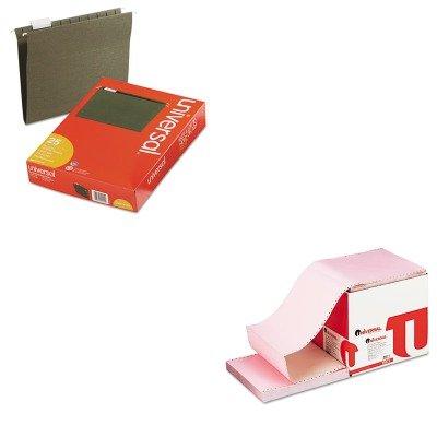KITUNV14115UNV15873 - Value Kit - Universal Multicolor Computer Paper (UNV15873) and Universal Hanging File Folders (UNV14115)