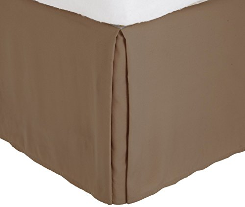 Fancy Collection California King Size Easy Care Tailored Microfiber 14-inch Bed Skirt Solid Taupe
