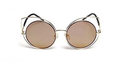 rond polarisées style inspirées retro Or soleil vintage du métallique en lunettes Lennon Local cercle de qg7W4