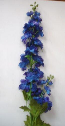 Pack 6 stems deluxe quality delphinium dark blue artifical silk pack 6 stems deluxe quality delphinium dark blue artifical silk flowers mightylinksfo