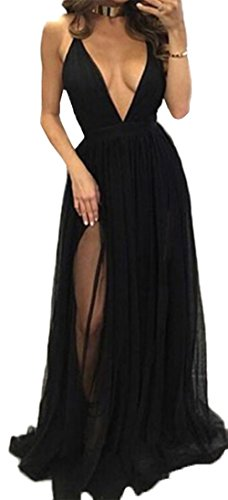 Buy long black lace dress next - 6