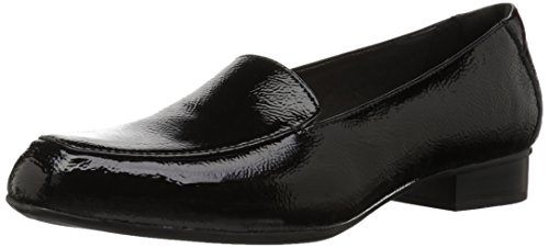 Black Loafer CLARKS Patent Leather Juliet Lora Women's 7nXrtqXIF