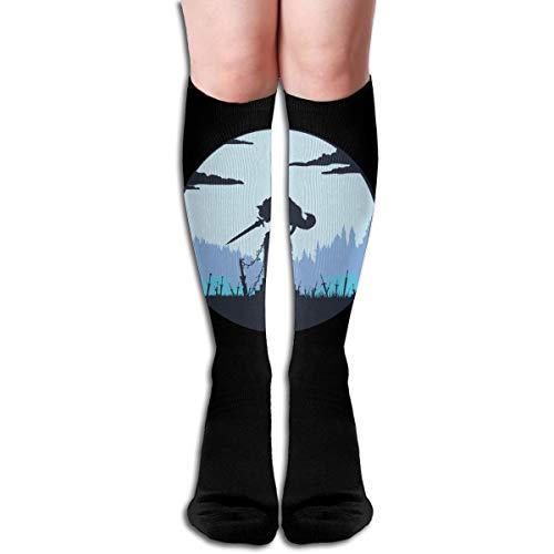 Taotao Grey Wolf Sif (Dark Souls) Women Fashion Socks White -