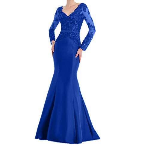 Langes Brautmutterkleider Abendkleider Rot Ballkleider Elegant Royal La Blau Damenkleider Marie Langarm Braut qzO8xC
