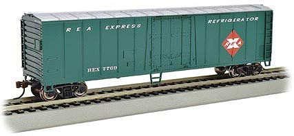 Bachmann Trains 17957 ACF 50' Steel Reefer - Railway Express - N Scale, Prototypical Colors 50' Express Reefer Car
