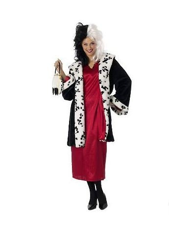 Disney Store CRUELLA DE VIL LADIES COSTUME Size Medium 10/12 (Disney Villain Costume)