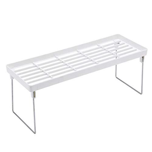 Baomabao Standing Rack Shelf Holder Rack Suitable for Kitchen Bathroom Countertop Storage (White) ()