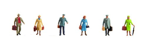 Faller 153044 Travelers with Luggage 6/HO Scale Figure Set