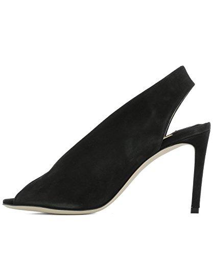 Cuir À Noir SHAR85SUEBLACK Femme Jimmy Talons Choo Chaussures ZqwBWI8