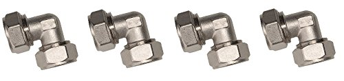 Maxline M8067 Elbow Fitting for 3/4-Inch Tubing (4-Pack)