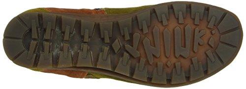 Think Menscha, Zapatillas de Estar por Casa para Mujer Verde - Grün (SAFARI/KOMBI 52)