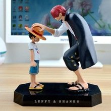 One Piece action figures Anime Straw Hat Luffy Shanks red hair ornaments gift doll toys 17.5cm child luffy models collection