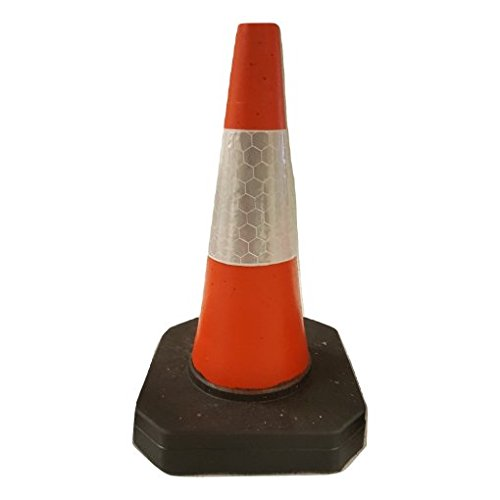 Pack of 6 - Heavy Duty U.K Traffic Cones (450mm) Traffic Safety Products