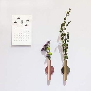 Couleur : Gold D/écoration de maison Vase en acier inoxydable de style nordique avec d/écoration de mariage maison de pot de fleurs aimant