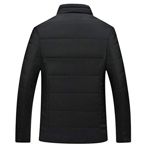 L Algodón Zjexjj De color Tamaño Chaqueta Caliente Negro Los Hombres Invierno CZqRvpPawZ