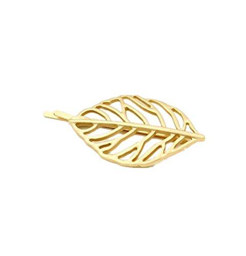 Creux Or Feuilles Hairpin Hair Clip Hairline Bobby Pin Coiffure Bijoux de la tête de tête pour les femmes Fille