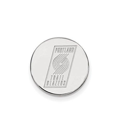 NBA Portland Trail Blazers Lapel Pin in 14K White Gold by LogoArt