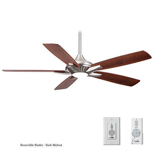 Minka-Aire F1000-BN, Dyno, 52 Ceiling Fan, Brushed Nickel With Additional Wall Control
