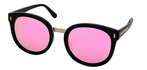 Lunettes De Soleil De Protection De La Mode Moderne Des Femmes Cadre Noir Couleur Lentille Lunettes De Soleil Anti-UV Cadeau Danniversaire pink
