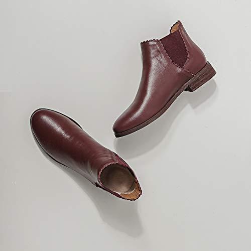Tacco Leather Maypie Senza Donna Toadad Rosso Di15qiw Elastico Stivali POzAqw