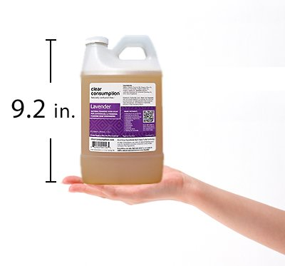 Clear Consumption Natural Lavender Foaming Hand Soap Refill 1/2 Gallon (64 oz) - Made from USDA Organic Vegetable Oils - For Commercial & Personal Foaming Soap Dispensers by Clear Consumption (Image #2)