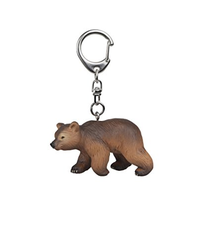 Papo Pyrenees Bear Cub Key Ring, Multicolor