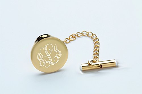 Personalized Gold Circle Tie Pin Engraved Free by A & L Engraving